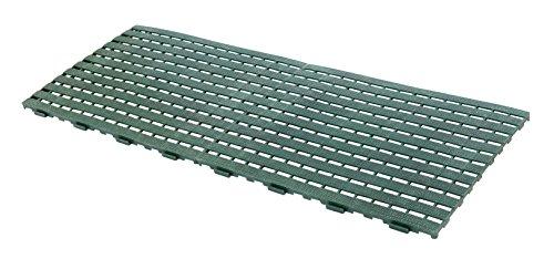 UPP Haus- & Gartenmatte | Rutschhemmend auch als Pool Matte | Schützt Rasen, Balkonboden und Terrassenplatten [2 Stk., 60 x 45 cm, grün]