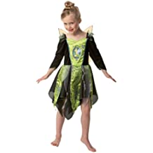 Princesas Disney - Disfraz de Campanilla para Halloween, para niños, talla S (Rubie's 884495-S)