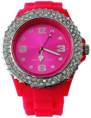 **Premium** Rosa di design in silicone orologio Strass doppio XL in modalità cronografo bracciali UNISEX Orologio da polso orologio da uomo orologio sportivo Trend WATCH al quarzo forte nella moda orologi di qualità assoluto Must-Have Top qualità! In rosa da Avcibase