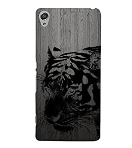 PrintVisa Black Tiger 3D Hard Polycarbonate Designer Back Case Cover for Sony Xperia XA :: Sony Xperia XA Dual