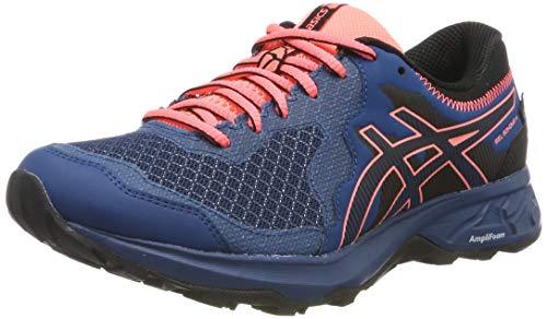 ASICS Damen Gel-Sonoma 4 G-TX Laufschuhe, Blau (Mako Blue/Sun Coral 400), 38 EU (Wasserdichte Laufschuhe)