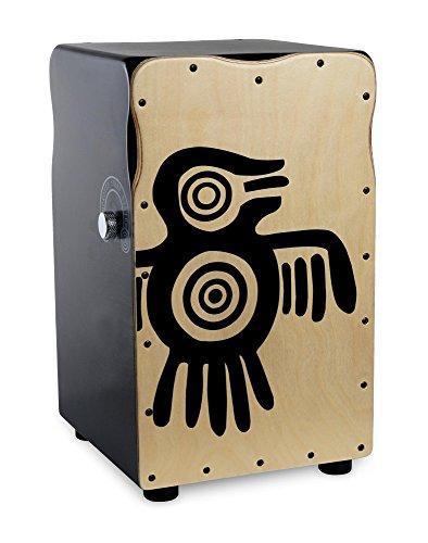 Zwei-ton-polsterung (XDrum Pro Cajon Peruana Ash (2 Schlagplatten aus Birke und Esche, Snare On/Off-Funktion auf Birkenseite, 50 cm hoch, inkl. Rucksack-Tasche))