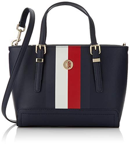 Tommy Hilfiger Damen Honey Small Tote Corp Blau (Corporate) 10x19x27 cm - Denim Tote Bag Handtasche