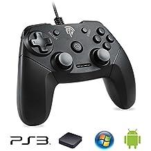 EasySMX PS3 Gamepad, EG-C3071 USB Gaming Mando Game Controlador Joystick con Doble-