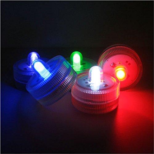 12er Set Tauchwasserdicht Unterwasser Teelichter Farbwechsel Flammenlose LED