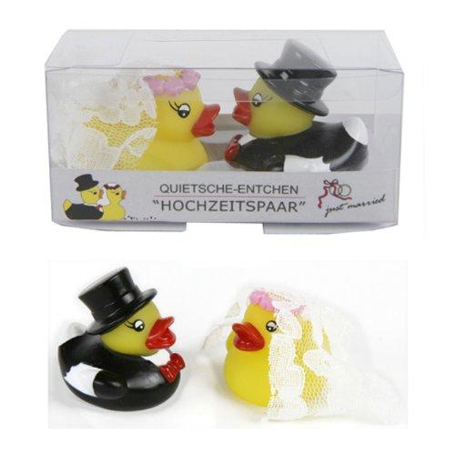 """Quitsche-Ente """"Hochzeitspaar"""" 2 Entchen Badeentchen"""