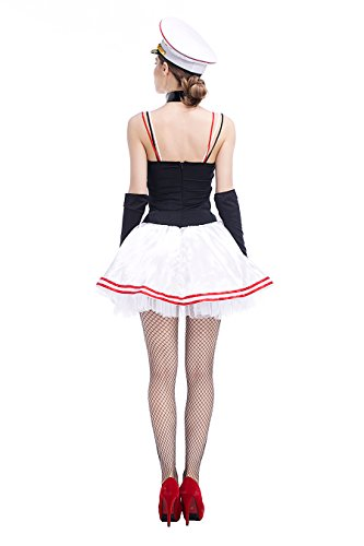 Kostüme Girl Sexy Irish (Damen Sexy Sailor Girl Pinup Navy Uniformen Halloween Kostüm)