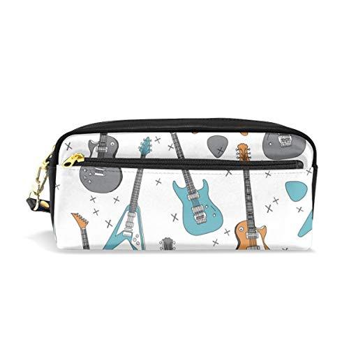 Gitarren Gitarre E-Gitarre Jungen Rock Stoff Trendy Print von Andrea Lauren_8 Kosmetiktaschen Federmäppchen Tragbare Reise Make-up Organizer Multifunktions Tasche Taschen für Frauen -
