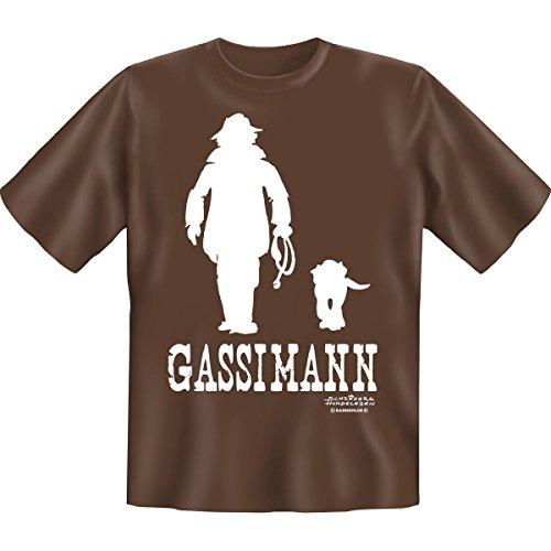 Gassimann -- Funshirt für den Tierfreund mit Humor!! -- Farbe: schoco, Grösse: XL