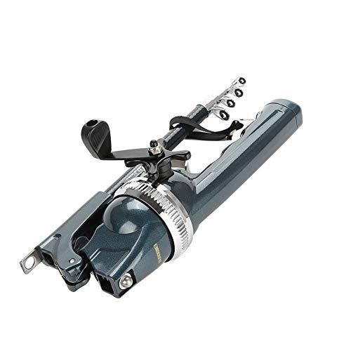 Dewin Angelrute, Leichter Kunststoff-Klapp-Integrierter Angelgriff und Zubehör für geschlossenes Rollengeschirr
