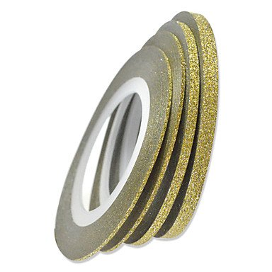 1pcs 1mm 20m Nail Art Gold/Silver Glitter Stripe Tape Nail Art Decoration tools , 1#