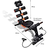 Zemic 6 Pack Abs Exerciser Machine with 20 Different Modes for Exercise and Fitness-Abs Exerciser-Body Toner-Fat Buster- Multipurpose Fitness Equipment for Men and Women (excersice Equipment for Home)