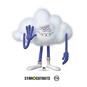 Star Cutouts Ltd SC1507 Star Cloud Guy Trolls recorte de cartón, perfecto para fiestas, 69 cm de alto, 67 cm de ancho, multicolor