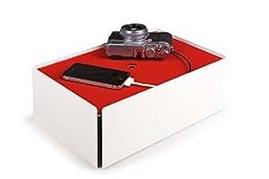 Konstantin Slawinski Boîte Cache Câble - Charge-Box - Blanc/Rouge - 31,5 x 21 x 11,5 cm