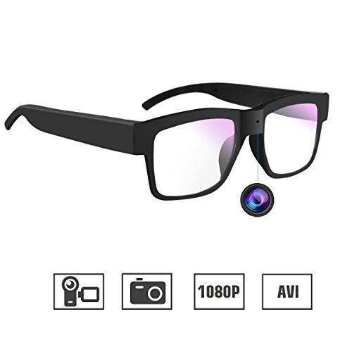 WBPINE Kamera Brille 1080P Mini Videobrille Kamera Tragbare Kamera für Büro/Outdoor/Training/Lehre/Kinder/Haustiere