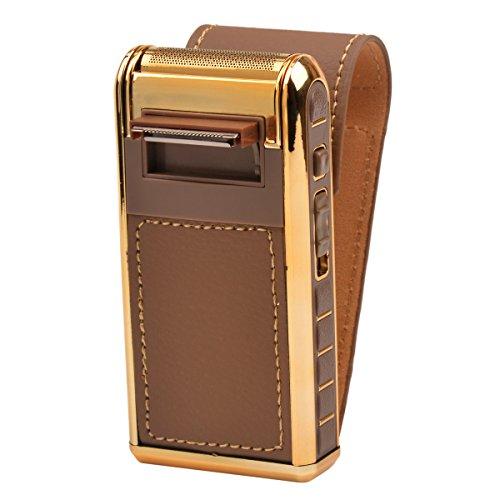 ckeyinr-2-en-1-afeitadora-electrica-oscilante-recargable-sin-inalambrico-con-vintage-leather-wrapped
