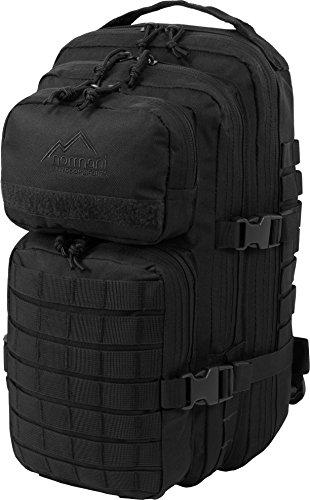 normani US Rucksack I Daypack - Praktischer Rucksack der US Army Farbe Schwarz (Paintball Rucksack)