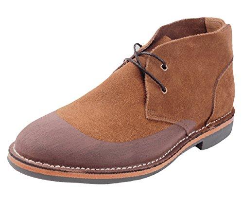 Riancess Boots homme Pour détent et travail Chaussures de ville Marron