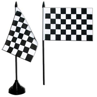 Tischflagge / Tischfahne Zielflagge + gratis Aufkleber, Flaggenfritze® -