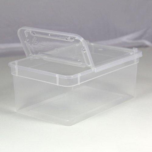 BraPlast Dose 1,3 Liter 18,5 x 12,5 x 7,5 cm - transparent mit transparentem Deckel / Kunststoff Stapelbox
