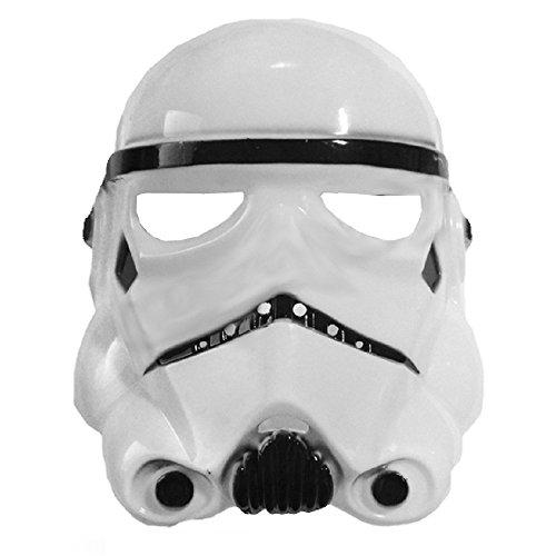 te 5 - 8 Jahre - Kostüm Maske - Verkleidung - Karneval - Halloween - Weißer Krieger - Kind - Star Wars - Stormtrooper ()