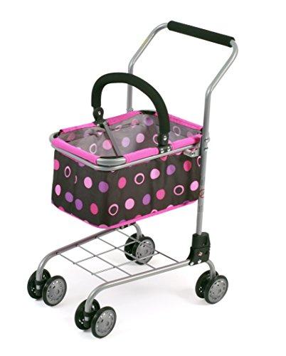 Bayer Chic 2000 761 48 - Einkaufswagen mit Tragekorb, Ideale Ergänzung zum Kaufladen, Pinky Balls