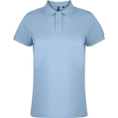 Asquith & Fox Ladies Polo Shirt Sky