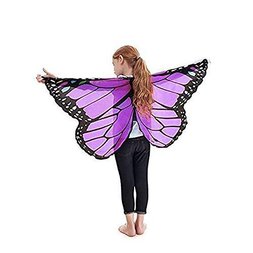 Finsink Kinder Schmetterlingsflügel Schal mit weichem, leichtem Material als Kostümzubehör für Show, Daily, Party ()