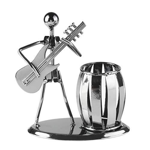 Larcele Jahrgang Metall Bleistift, Pinsel, Stiftehalter Kleiner Musiker Schreibtisch Organisator TRBT-01 (Elektrische Gitarre) (Elektrischer Draht-organisator)