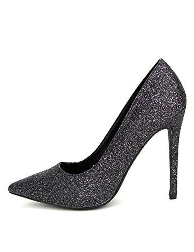 Cendriyon Escarpin Noir Strass C'M Stan Chaussures Femme Noir