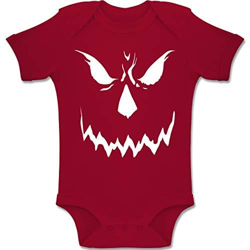 Shirtracer Anlässe Baby - Scary Smile Halloween Kostüm - 1-3 Monate - Rot - BZ10 - Baby Body Kurzarm Jungen Mädchen