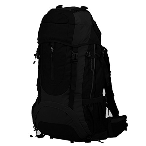 AMOS Zaino Outdoor 60L borsa da viaggio alpinismo sacchetto da viaggio borsa da viaggio zaino da viaggio ( Colore : Arancia ) Nero