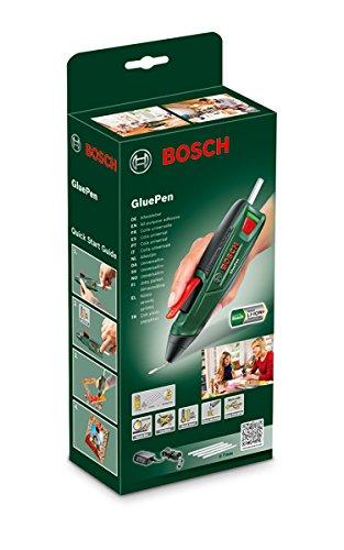 Bosch Akku Heißklebepistole GluePen (Micro USB Ladgerät, 4x Kleber Ultrapower, Karton, 3,6 Volt) - 2