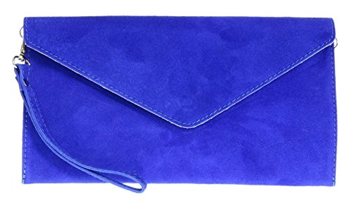 Mode Eleganti, Damen Clutch Blau