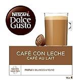 NESCAFÉ Dolce Gusto Café con Leche | Pack de 3 x 16 Cápsulas - Total: 48 Cápsulas de café