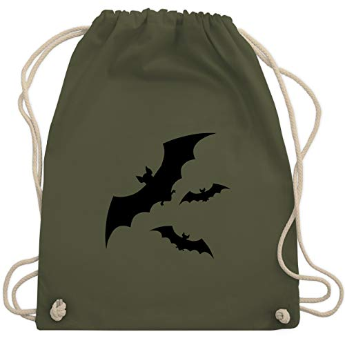 Halloween - Fledermäuse - Unisize - Olivgrün - WM110 - Turnbeutel & Gym Bag (Blaze Halloween Große)