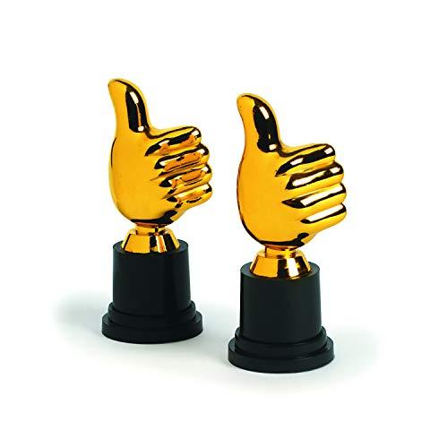 cama24com Pokal Trophäe Daumen hoch 6 Stück Mitgebsel Kindergeburtstag Mottoparty mit Palandi® Sticker