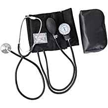 Hensych® Home Blood Pressure cuff Kit with Manual Sphygmomanometer Stethoscope and Carrying Case