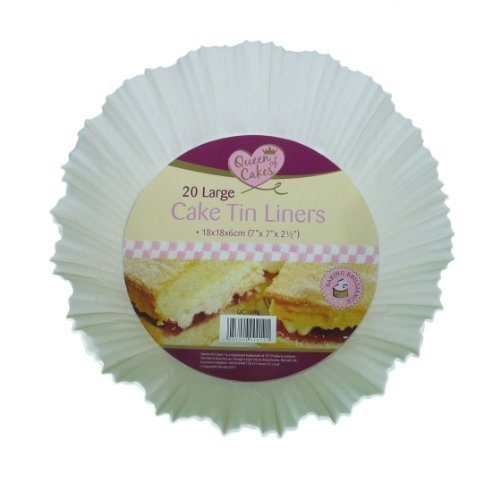 20 Large Cake Tin Liners 18x18x6cm by Queen Of Cakes