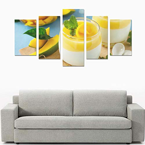Berry Fruit Jelly With Fresh Fruit (no Frame) Canvas Print Sets Wall Art Picture 5 Pieces Paintings Posters Prints Photo Image On Canvas Ready To Hang For Living Room Bedroom Home Office Wall Decor