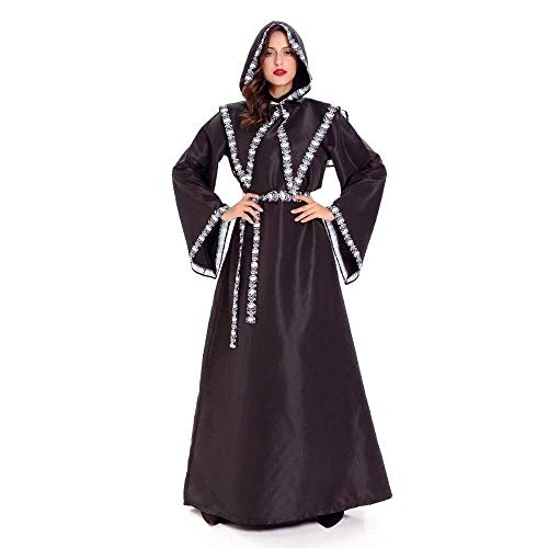 Fashion-Cos1 Halloween Kostüm Adult Death Cosplay Kostüme Black Robe Hexe Kapuzenmantel Scary Devil Rollenspiele Cosplay Long Black Cloak (Robe Black Halloween-kostüm)