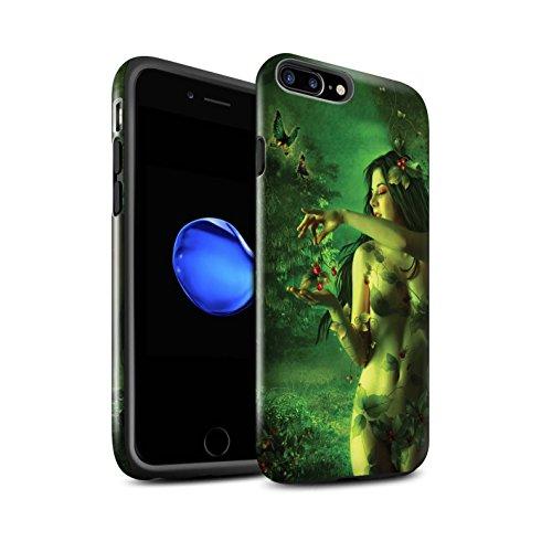 Officiel Elena Dudina Coque / Brillant Robuste Antichoc Etui pour Apple iPhone 7 Plus / Rêveur Design / Un avec la Nature Collection Cerises Rouges