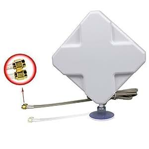 35DBi 4G Signal Booster Amplificateur 2M câble externe Connecteur SMA Antenne (4G35DBI SMA)