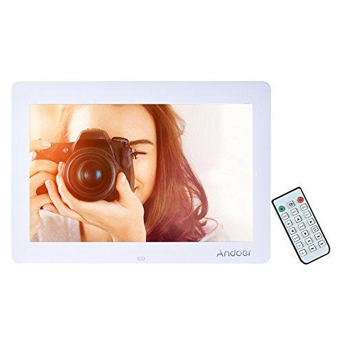 Andoer 14 'Large écran HD LED Cadre photo numérique Album Digital Haute Résolution 1280 * 800 Cadre photo électronique avec contrôle à distance y compris l'horloge LED MP4 Calendrier MP3 Movie Play