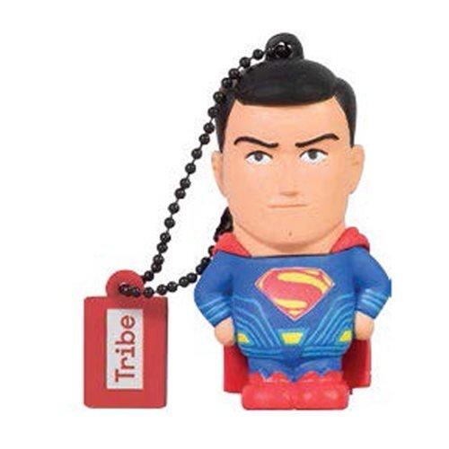 Tribe DC Comics Action Figure Superman Movie Chiavetta USB da 8 GB Pendrive Memoria USB Flash Drive 2.0 Memory Stick, Idee Regalo Originali, Figurine 3D, Archiviazione Dati USB Gadget in PVC con Portachiavi - Multicolore