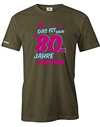 DAS IST MEIN 80er JAHRE KOSTÜM - HERREN - T-SHIRT in Army by Jayess Gr. XXXL