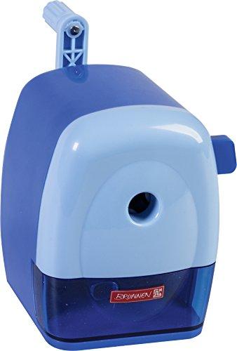 Brunnen 102987233 Spitzmaschine Kurbel Colour Code (mit Tischzwinge, für dicke und dünne Stifte bis 11,5 mm) blau / azur