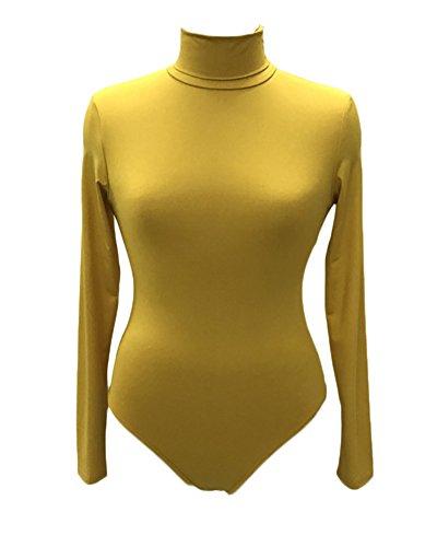 Gladiolus Body Donna Collo Alto Felpato Maniche Lunghe Basic Body Tops Bodywear Tutine Bodysuit