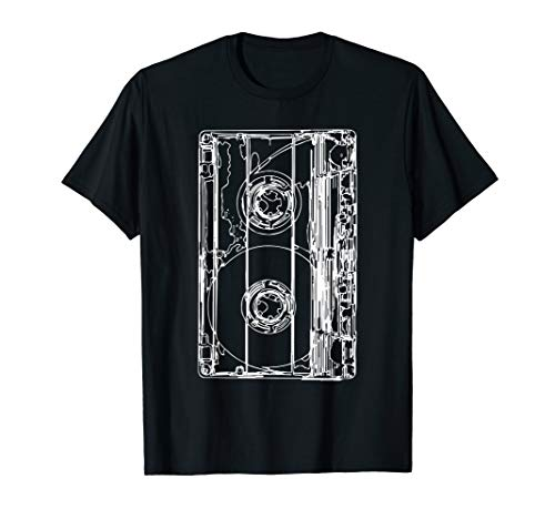 Retro 90er Jahre Kostüm Musik Kassette T-Shirt