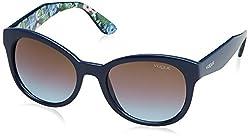 Vogue Gradient Rectangular Sunglasses (0VO2992S232548Medium) (Night Blue)